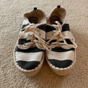 Dolce Vita Shoes - Striped Espadrille Platform Sneakers
